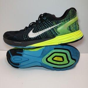 Nike Lunarglide 7 Men's Black Blue Green Sneaker